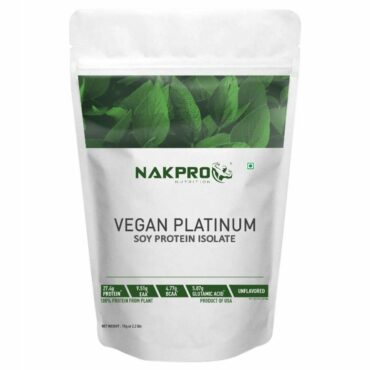 Nakpro Vegan Soy Protein Isolate 90% Raw Powder 1Kg Unflavoured