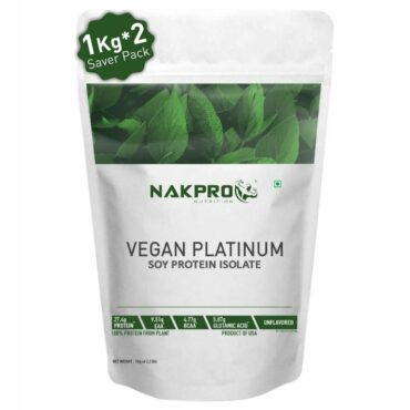 Nakpro Vegan Soy Protein Isolate 90% Raw Powder 2Kg Unflavoured