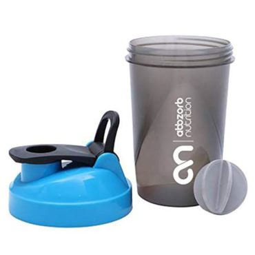 Abbzorb Nutrition Shaker Bottle with Mixer Ball 400ml1
