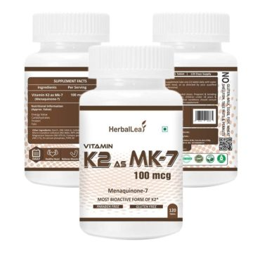 HerbalLeaf Vitamin K2 as MK7 100mcg 120 Tablets