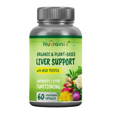 Nutrainix Certified Organic & Plant-Based Liver Support with Milk Thistle 60 Capsules