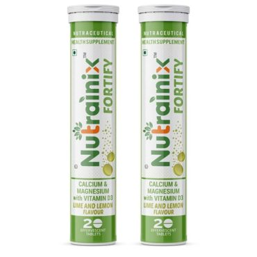 Nutrainix Fortify Calcium 500mg 40 Effervescent Tablets Lime and Lemon
