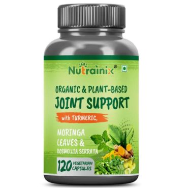Nutrainix Plant Based Joint Support with Turmeric and Ginger Extract 120 Capsules