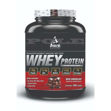 Pole Nutrition 100% Whey Protein 5Lbs Rich Chocolate