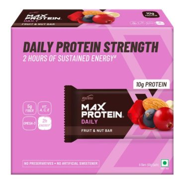 RiteBite Max Protein Daily Fruit & Nut 300g Pack of 6 (50g x 6)