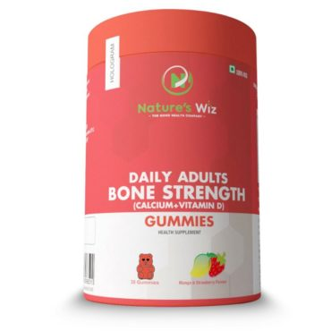 Nature'S Wiz Daily Adults Bone Strength (Calcium+Vitamin D) 30 Gummies