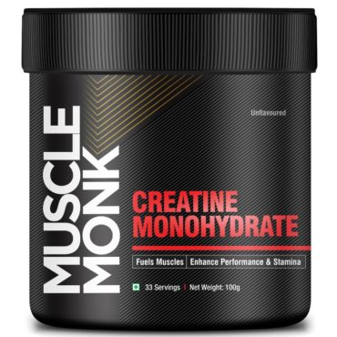 Muscle Monk Performance Series Creatine Monohydrate (3g Creatine, 33 Servings) – 100g