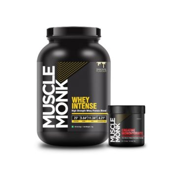 Muscle Monk Highly Advanced Intense Whey Protein 1kg with Creatine Monohydrate 100g unflavoured