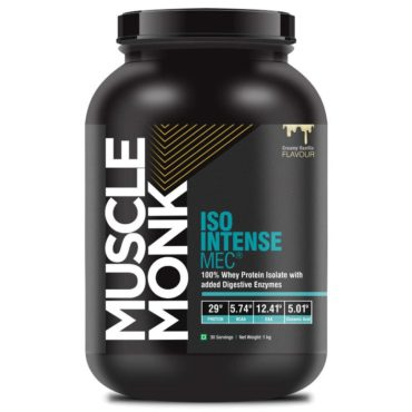 Muscle Monk ISO Intense MEC Whey Isolate Protein with Digestive Enzymes 1kg