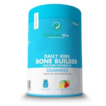 Nature'S Wiz Daily Bone Builder (Calcium+Vitamin D) 30 Gummies