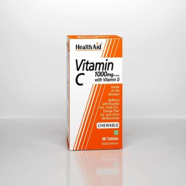 HealthAid Vitamin C 1000mg Complex with Vitamin D 60 Chewable Tablets1