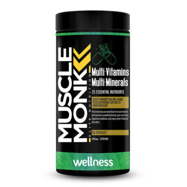 MuscleMonk Multivitamin & Multimineral Blend with added antioxidant 60 Caps