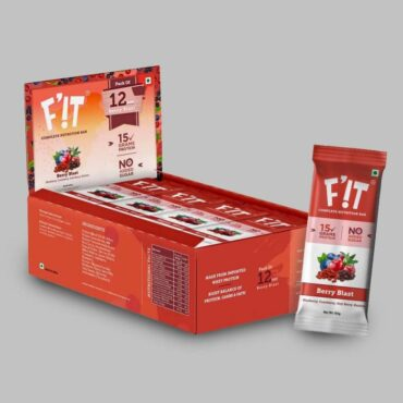 F'iT Nutrition Bar Berry Blast (Pack of 12)