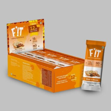 F'iT Nutrition Bar Nuts N Seeds (Pack of 12)