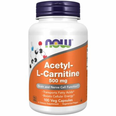 Now Acetyl-L-Carnitine 500 mg 100 veg capsules