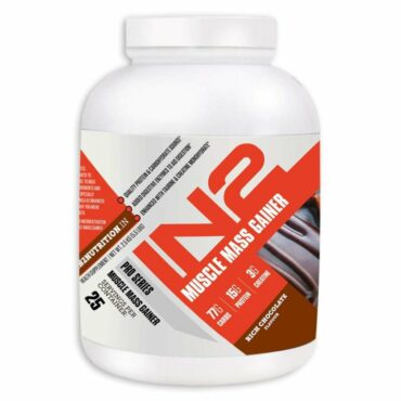 IN2 Muscle Mass Gainer 5.5 lbs, 2.5 kg Rich Chocolate