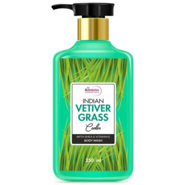StBotanica Indian Vetiver Grass Cooler Body Wash With Shea & Vitamin E Shower Gel 250 ml