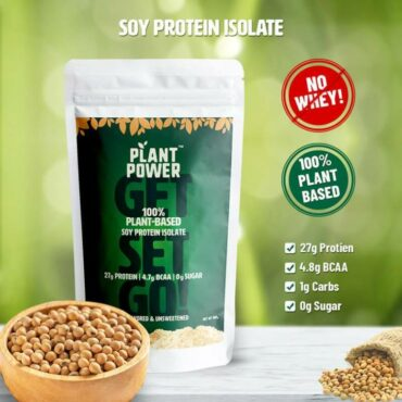 Plant Power Plant-Based Soy Protein Isolate 900g