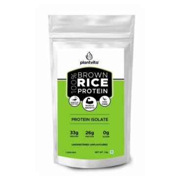 Plantvita Brown Rice Protein Powder For Lean Muscle 33g X 14 Trial Pack